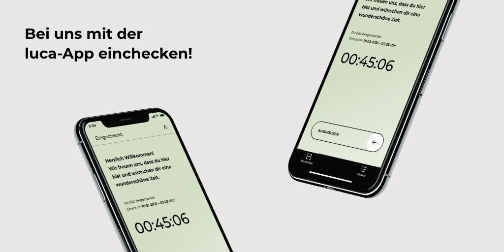 Wir nutzen die Luca App